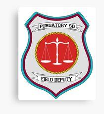 Purgatory Sheriff Department Field Deputy 2 Canvas Print