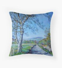 Down a Different Road Throw Pillow