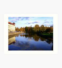 Autumn Reflections in Sweden Art Print