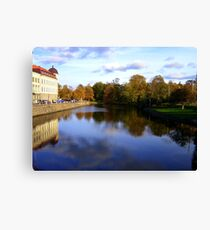 Autumn Reflections in Sweden Canvas Print