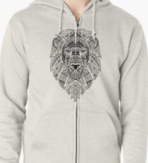 Graphic Lion Zipped Hoodie