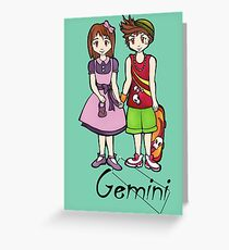 "Gemini among the stars - series of T-shirts ""Polaris""  Greeting Card"