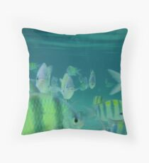 sea mobsters Throw Pillow