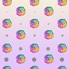 Rainbow Rose and Polka Dots by VMDolphin