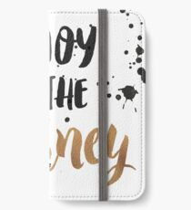 Gold Foil Motivational Quote iPhone Wallet