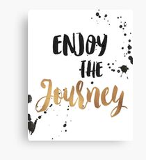Gold Foil Motivational Quote Canvas Print