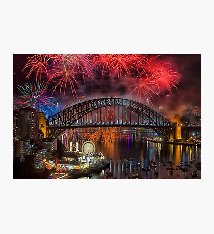 What a Blast - Sydney New Years Day 2015 # 5 Photographic Print