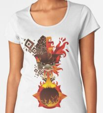 6th sun earth and fire-6em soleil terre et feu Women's Premium T-Shirt