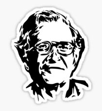 Noam Chomsky stencil Sticker