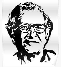Noam Chomsky stencil Poster