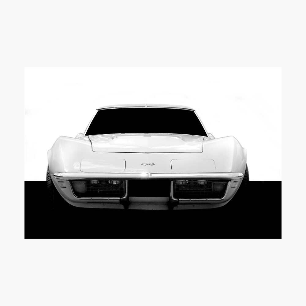 Chevy Corvette Stingray 454 C3 - Hoher Kontrast Fotodruck