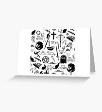 Buffy Symbology - Black Greeting Card