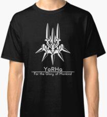 YoRHa + Motto Black Background Classic T-Shirt
