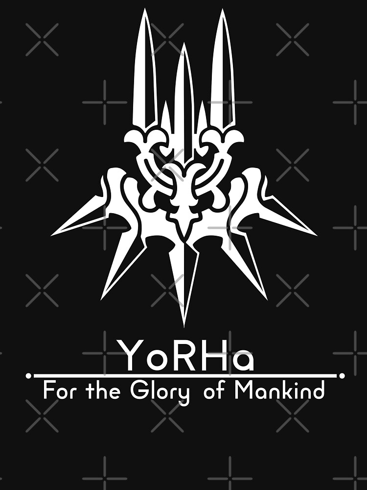 YoRHa + Lema Fondo negro de Bacara96