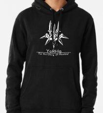 YoRHa + Motto Schwarzer Hintergrund Hoodie