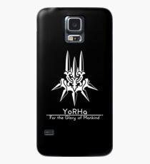 YoRHa + Motto Schwarzer Hintergrund Hülle & Skin für Samsung Galaxy