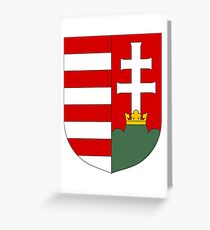 Hungary coat of arms Greeting Card