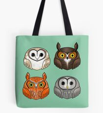 Four Round Owls Tote Bag