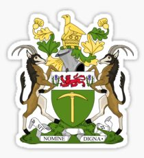 Rhodesia coat of arms Sticker