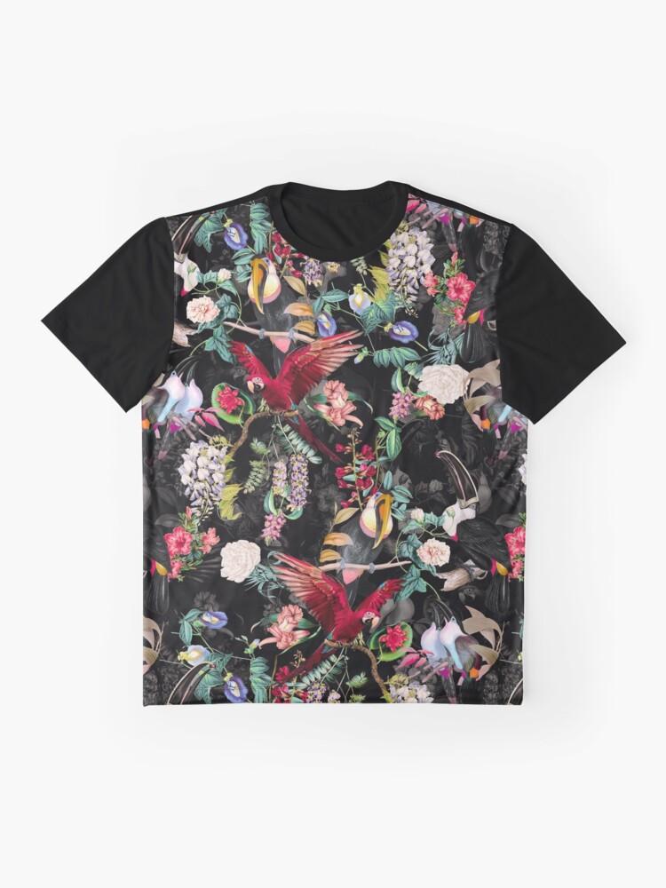 Alternative Ansicht von Blumen und Vögel IX Grafik T-Shirt