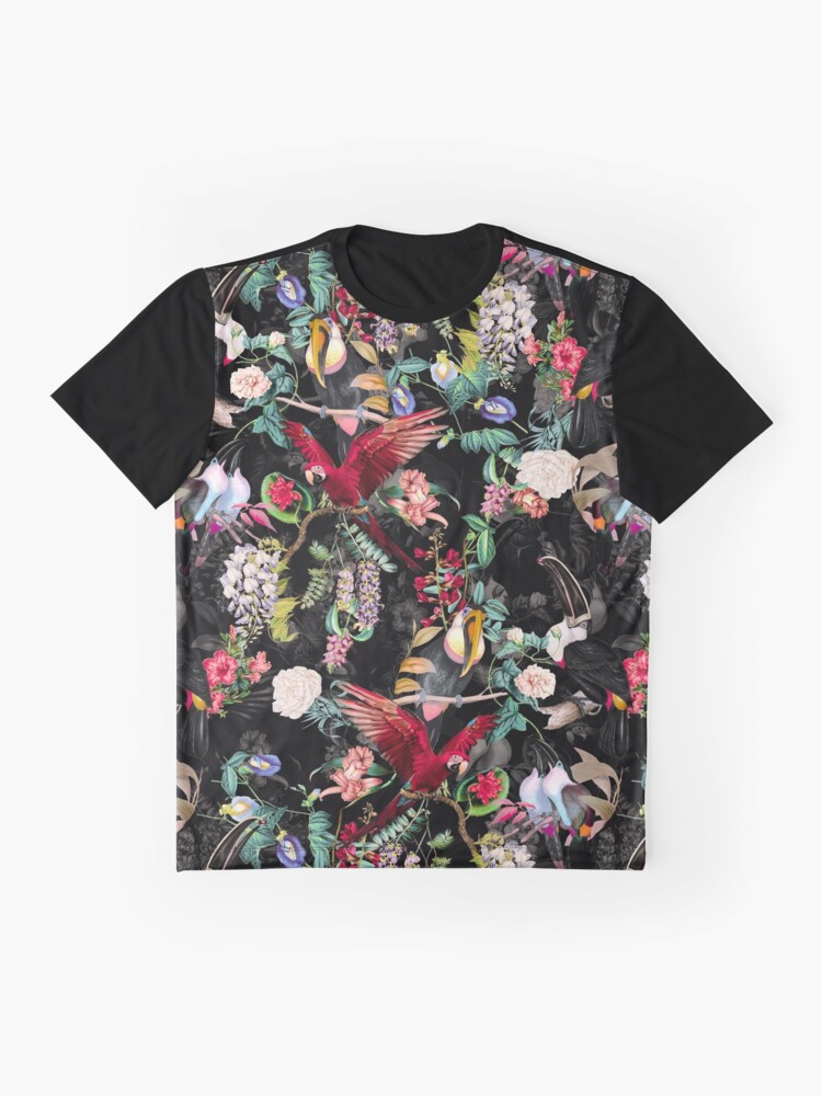 Alternate view of Floral and Birds IX Graphic T-Shirt