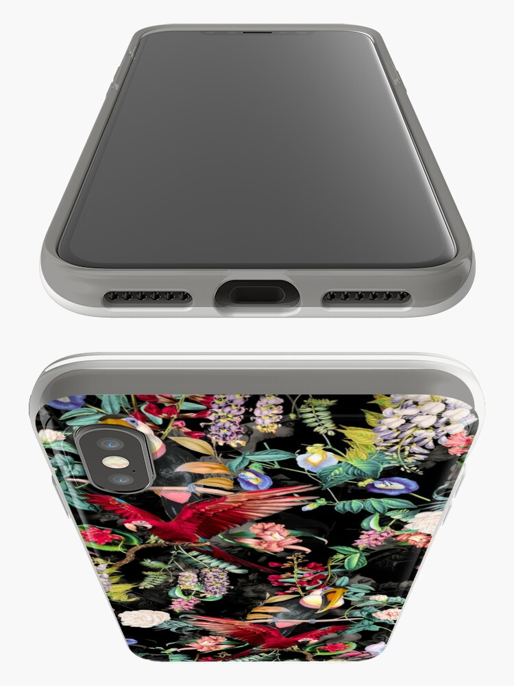 Alternate view of Floral and Birds IX iPhone Case & Cover