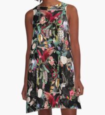 Floral and Birds IX A-Line Dress