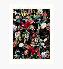 Lámina artística Floral y Aves IX