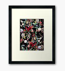 Floral and Birds IX Framed Print