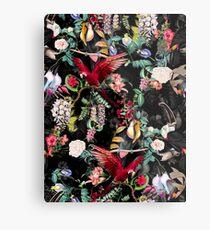 Blumen und Vögel IX Metalldruck