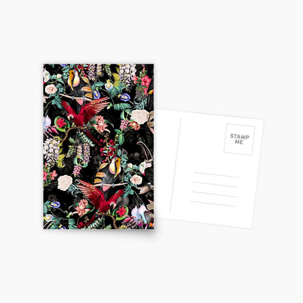 Floral and Birds IX Postcard