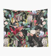 Floral and Birds IX Wall Tapestry