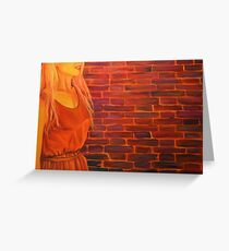 Not just another brick in the wall, 120-80cm, 2017, oil on canvas Greeting Card