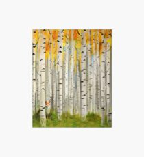 Fox in an Autumn Birch Forest Art Board