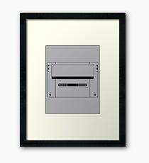 Super Famicom Cart Outline Framed Print