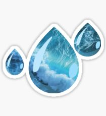 Ocean raindrops Sticker