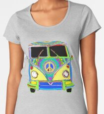 Peace Bus - Psychedelic Women's Premium T-Shirt