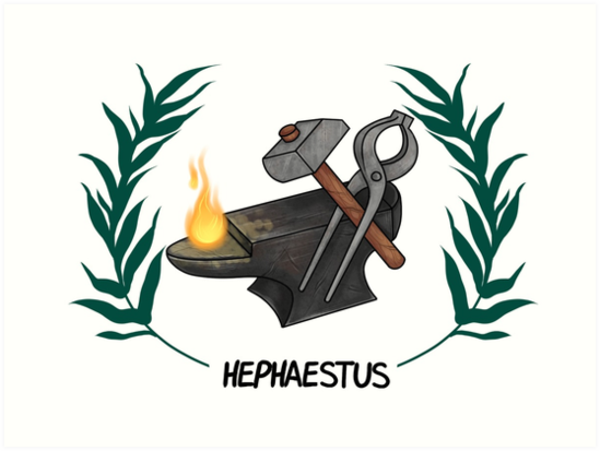 """Hephaestus Inspired Cabin Symbol"" Art Prints by ..."