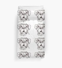 The Boxer Love of My Life Duvet Cover
