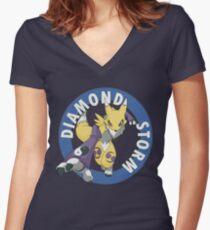 Diamond Storm Women's Fitted V-Neck T-Shirt