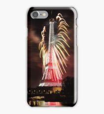 Paris, Eiffel Tower's red widow Panache iPhone Case/Skin