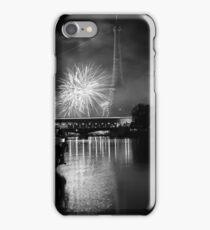 Paris, Eiffel Tower's black fire Panache iPhone Case/Skin