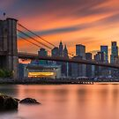 Sunset from Dumbo Brooklyn, Study 3 by Randy  LeMoine