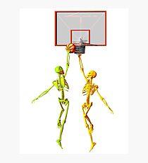 Skeleton basketball  Photographic Print