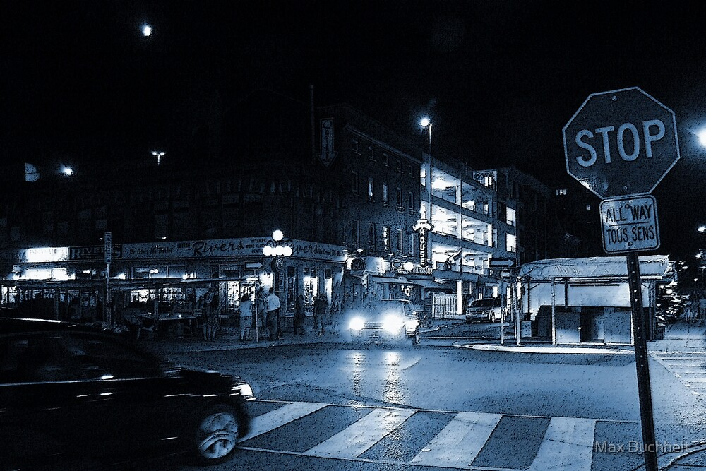 The Byward Market Square at Night by Max Buchheit