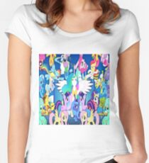 Mlp love Women's Fitted Scoop T-Shirt
