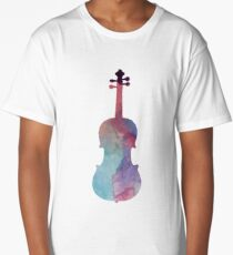 Music Art - Viola Long T-Shirt
