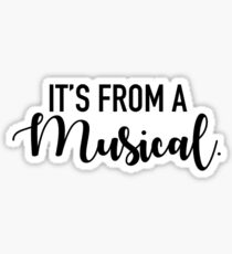 It's From A Musical Sticker