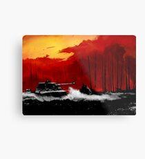 Battle of Kursk (Color Version) - by Nuclear Jackal Metal Print