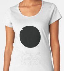 Solar Eclipse 2017 Shirt - The American Total Solar Eclipse Starfield - August 21, 2017 Women's Premium T-Shirt